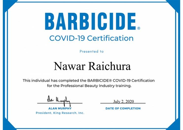 Makeup-Artist-UK-Barbicide-COVID-19-Certificate